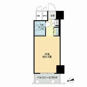 中銀ベル築地マンシオン・903号室の間取り