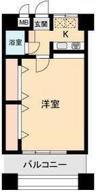 ルピナス東神奈川 702号室の間取り