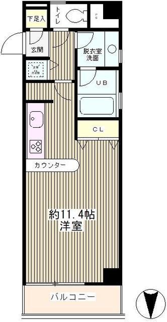フォルトゥーナ桜木・404号室の間取り