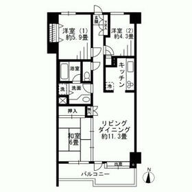 FOREST HOUSE・106号室の間取り