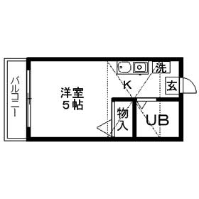 新川崎グレイス 0102号室の間取り