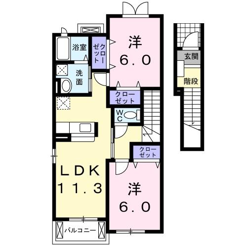 カ-サプラシ-ド・02030号室の間取り