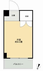 ドミール本羽田・403B号室の間取り