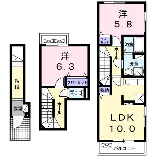 マーブルハウス・02050号室の間取り