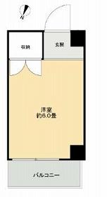ドミール本羽田・304号室の間取り