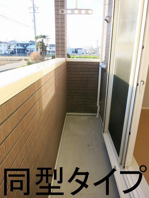 バーミィ Ⅲ 01030号室のバルコニー