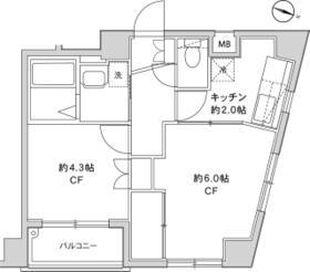 グレイスコート横浜大口 101号室の間取り