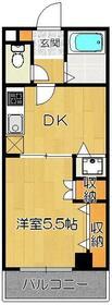 ミヤビマンション・305号室の間取り