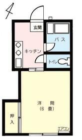 渋谷学生ハイツ・115号室の間取り