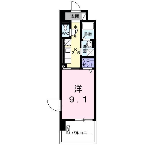 マンションM・K・02050号室の間取り
