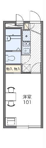 レオパレスブラッサム鎌倉・107号室の間取り