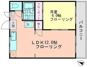 レジデンス岡野Ⅱ 203号室の間取り