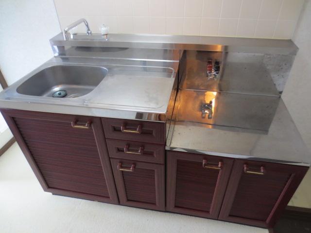 グランデュール本川越 205号室のキッチン
