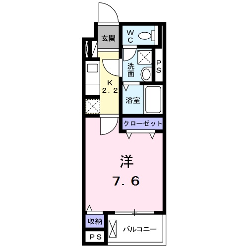 ベルハイツ早稲田・01020号室の間取り