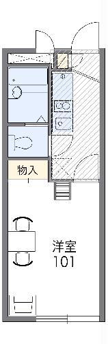 レオパレスHAYAKAWA・303号室の間取り