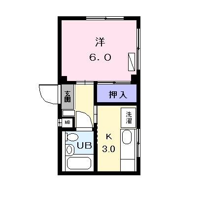 グランドール88・03020号室の間取り