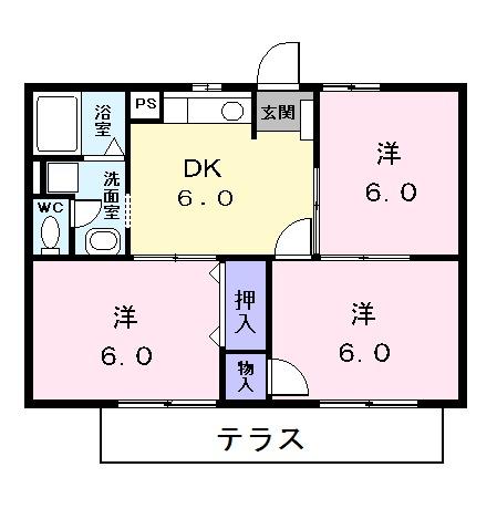 ピュア-ハイツⅠ・01030号室の間取り