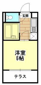 ルミエール稲野・305号室の間取り