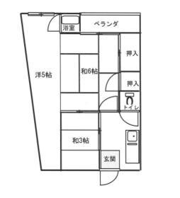 小松荘・305号室の間取り
