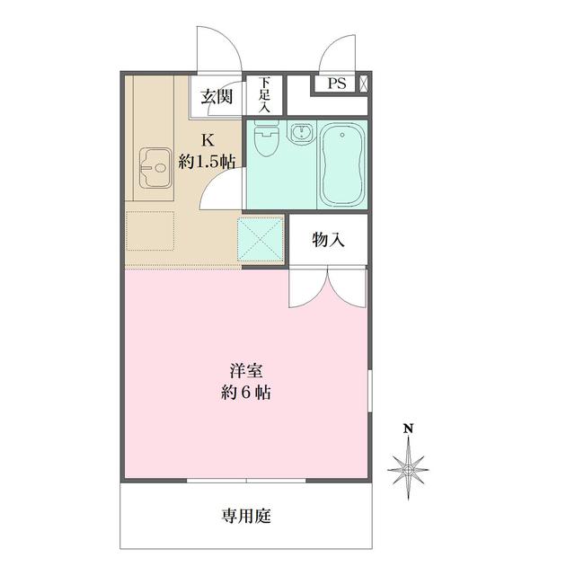 リッツハウス新宿・105号室の間取り