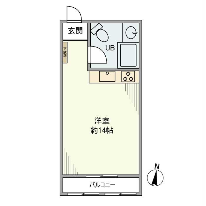 茅ヶ崎シーサイドパレス・310号室の間取り