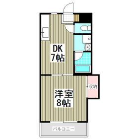 第2成城島田マンション・205号室の間取り