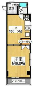 田園調布南ビル・206号室の間取り