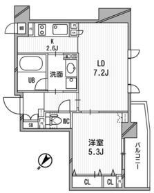 クリオ渋谷ラ・モード・503号室の間取り