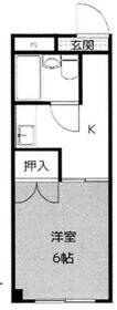 コーポ竹島・303号室の間取り