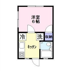 サニーコーポ八幡宿・201号室の間取り