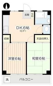 豊玉カームマンション・403号室の間取り