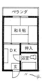 桂コーポ 208号室の間取り