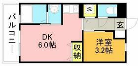 リード桜坂・0501号室の間取り