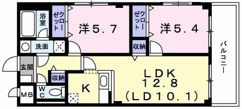 レフィナード・01010号室の間取り