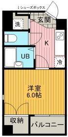 ヴィレ 日本橋箱崎・0502号室の間取り
