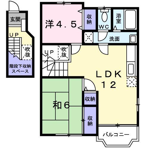 ドルチェ☆ビータ・02020号室の間取り
