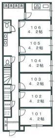 五反野Ⅱ シェアハウス・105号室の間取り