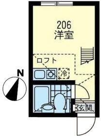 ユナイト横浜パームデールの杜・206号室の間取り