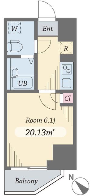 ダイヤモンドタワー西小山・1104号室の間取り
