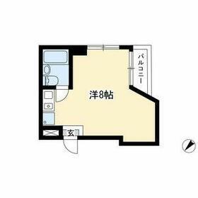 ホワイトハウス新栄 2C号室の間取り