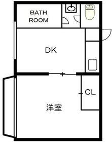 ホワイトハイム・105号室の間取り