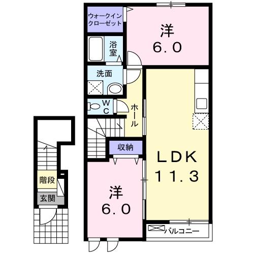 リバティ スクエアⅡ・02020号室の間取り