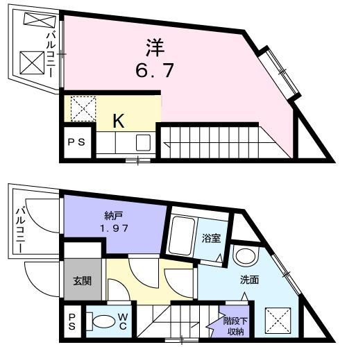 箱根ハイライズビル・03030号室の間取り
