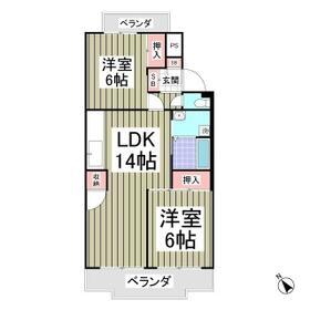 行田ハイツ1号棟・204号室の間取り