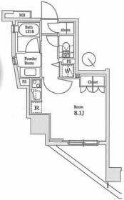 ラ・コスタ新宿余丁町・905号室の間取り