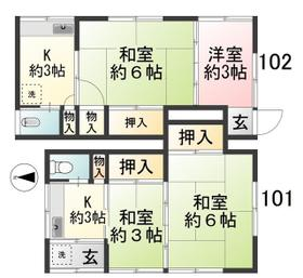 富士荘・102号室の間取り