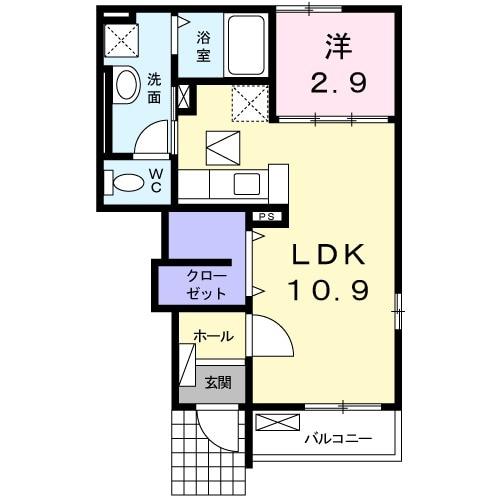 メゾン・ド・メアリ・01020号室の間取り