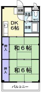 プリオール寺田・02020号室の間取り