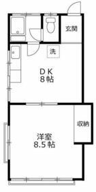 松栄荘 201号室の間取り