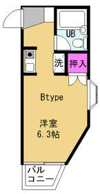 プレステージ湘南台・206号室の間取り